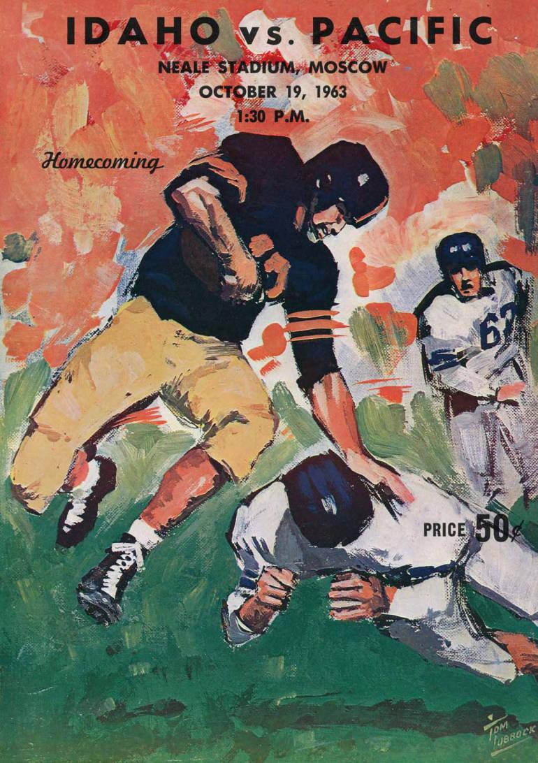 item thumbnail for Football Program: Idaho vs College of the Pacific, 10/19/1963, Neale Stadium, Moscow (Idaho)