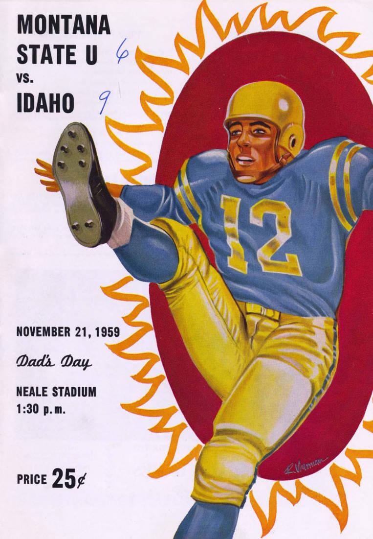 item thumbnail for Football Program: Idaho vs Montana State University, 11/21/1959, Neale Stadium, Moscow (Idaho)