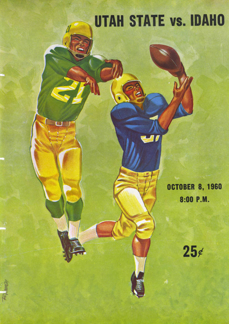 item thumbnail for Football Program: Idaho vs Utah State University, 10/08/1960, Romney Stadium, Logan (Utah)