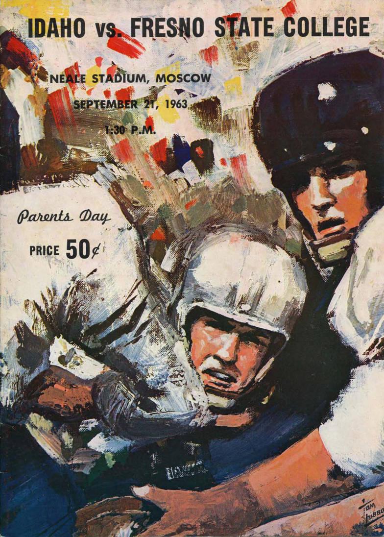 item thumbnail for Football Program: Idaho vs Fresno State College, 09/21/1963, Neale Stadium, Moscow (Idaho)