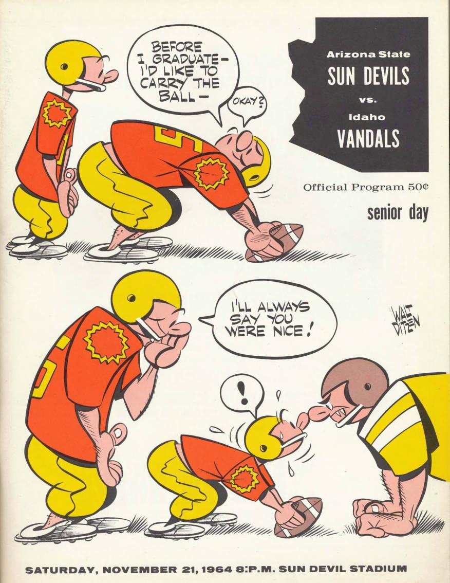 item thumbnail for Football Program: Idaho vs Arizona State, 11/21/1964, Phoenix (Arizona)