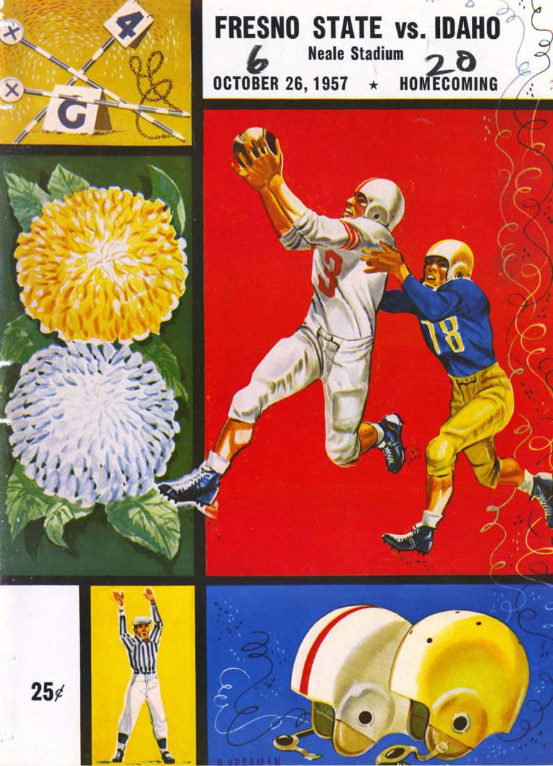 item thumbnail for Football Program: Idaho vs Fresno State College, 10/26/1957, Neale Stadium, Moscow (Idaho)