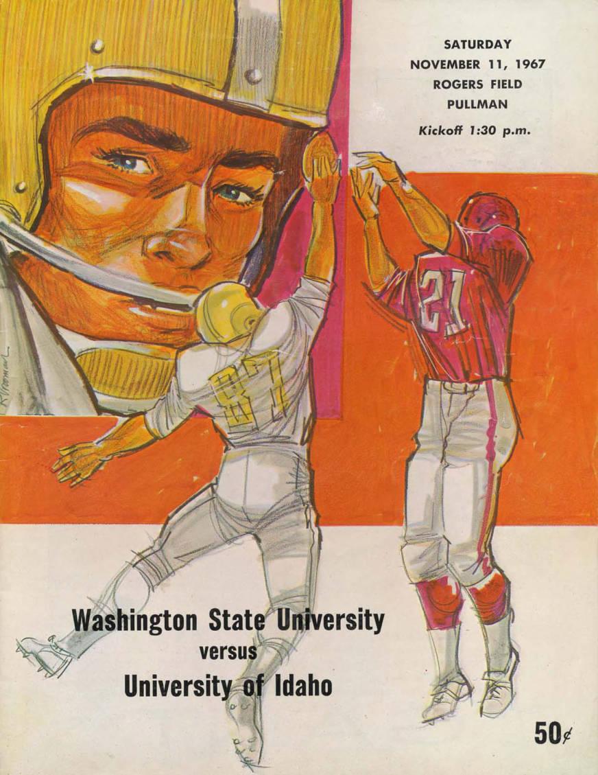 item thumbnail for Football Program: Idaho vs Washington State University, 11/11/1967, Rodgers Field, Pullman (Washington)
