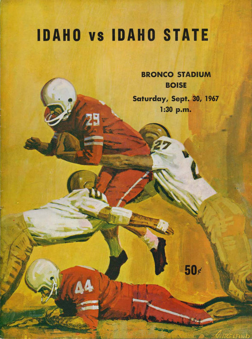 item thumbnail for Football Program: Idaho vs Idaho State, 09/30/1967, Bronco Stadium, Boise (Idaho)