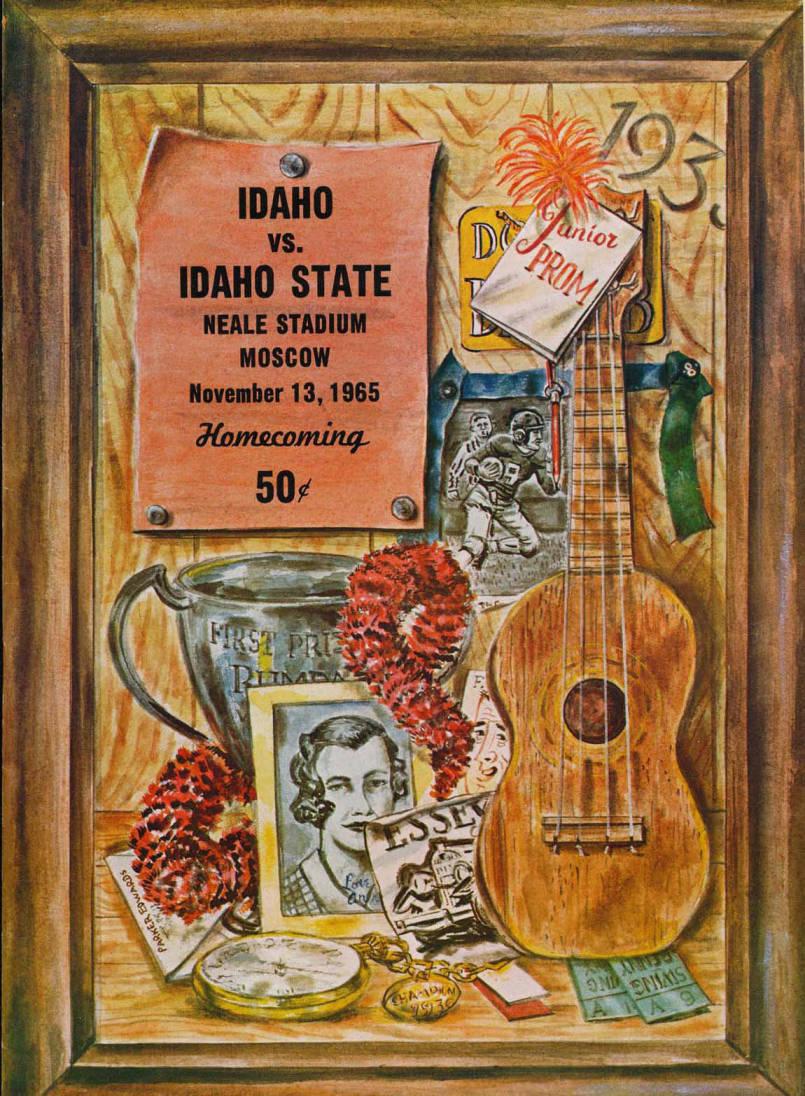 item thumbnail for Football Program: Idaho vs Idaho State, 11/13/1965, Neale Stadium, Moscow (Idaho)