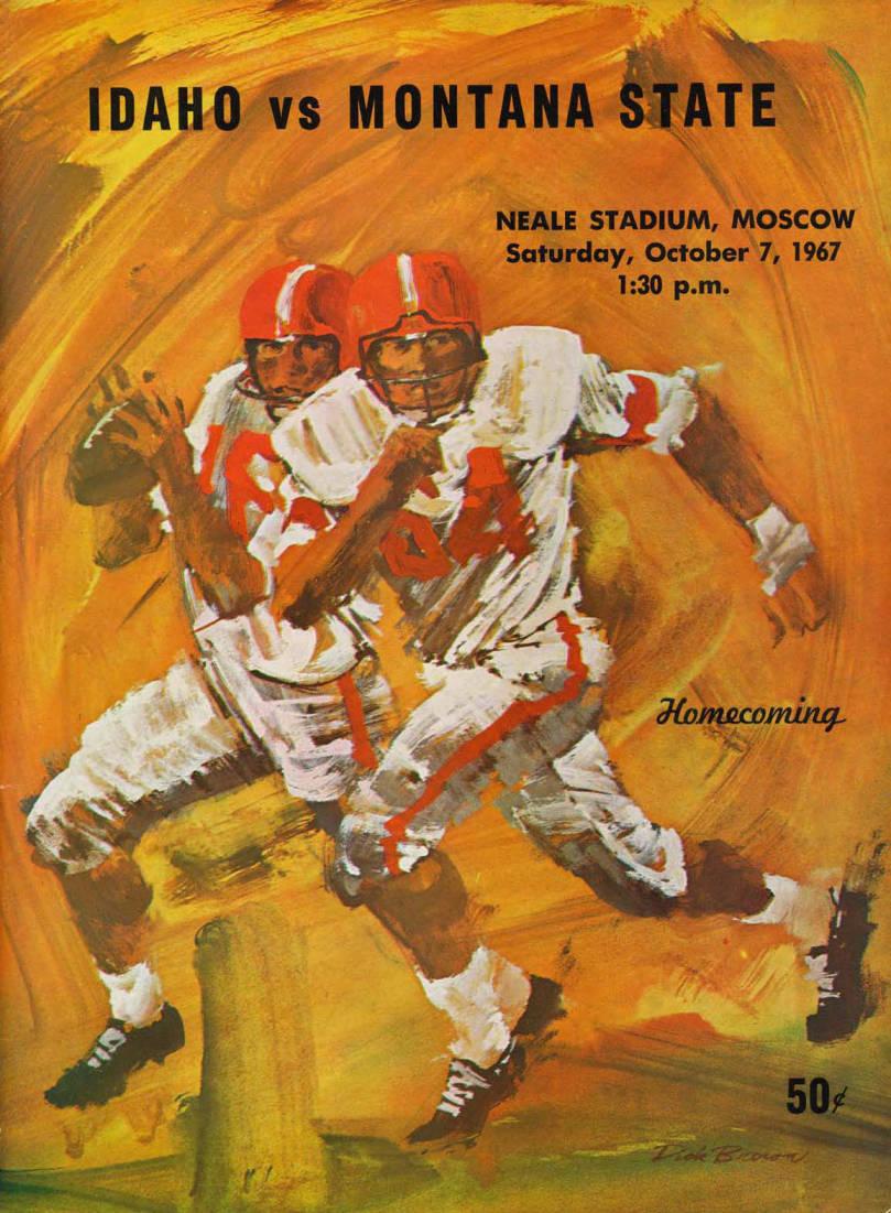 item thumbnail for Football Program: Idaho vs Montana State, 10/07/1967, Neale Stadium, Moscow (Idaho)