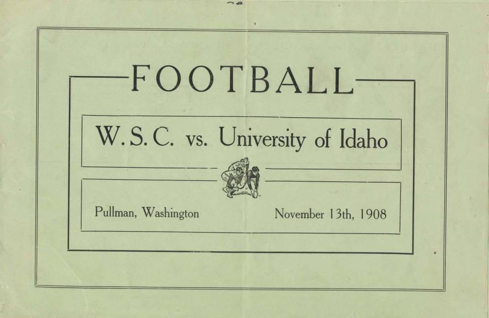 item thumbnail for Football Program: Idaho vs Washington State University, 11/13/1908, Rodgers Field, Pullman (Washington)