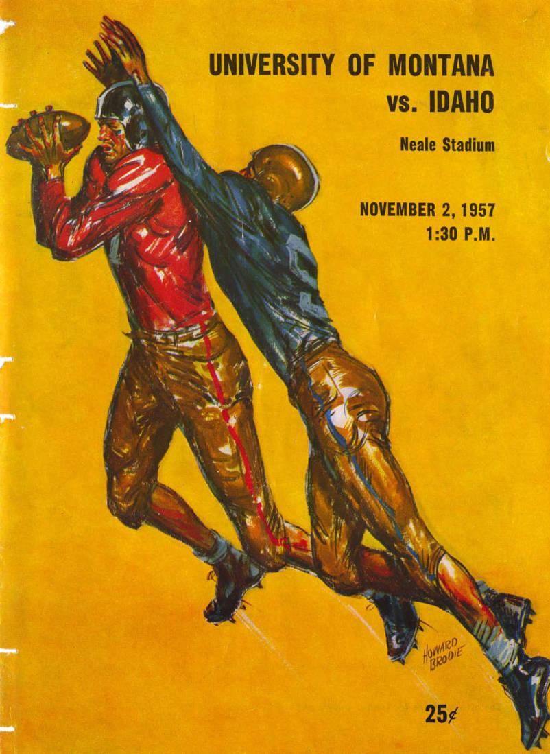 item thumbnail for Football Program: Idaho vs University of Montana, 11/02/1957, Neale Stadium, Moscow (Idaho)