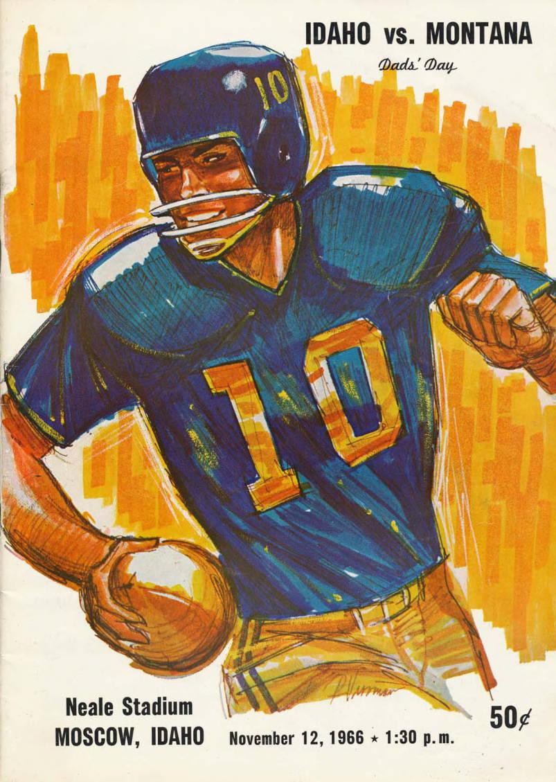 item thumbnail for Football Program: Idaho vs University of Montana, 11/12/1966, Neale Stadium, Moscow (Idaho)