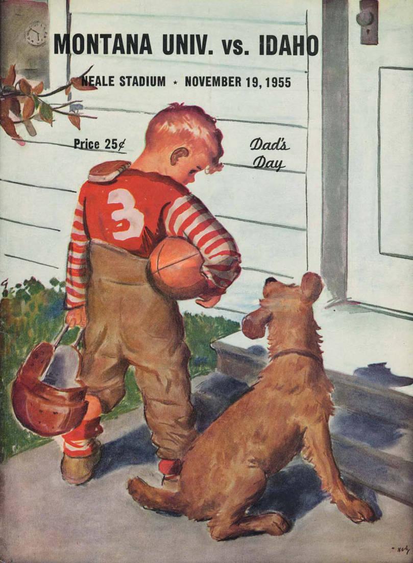 item thumbnail for Football Program: Idaho vs University of Montana, 11/19/1955, Neale Stadium, Moscow (Idaho)