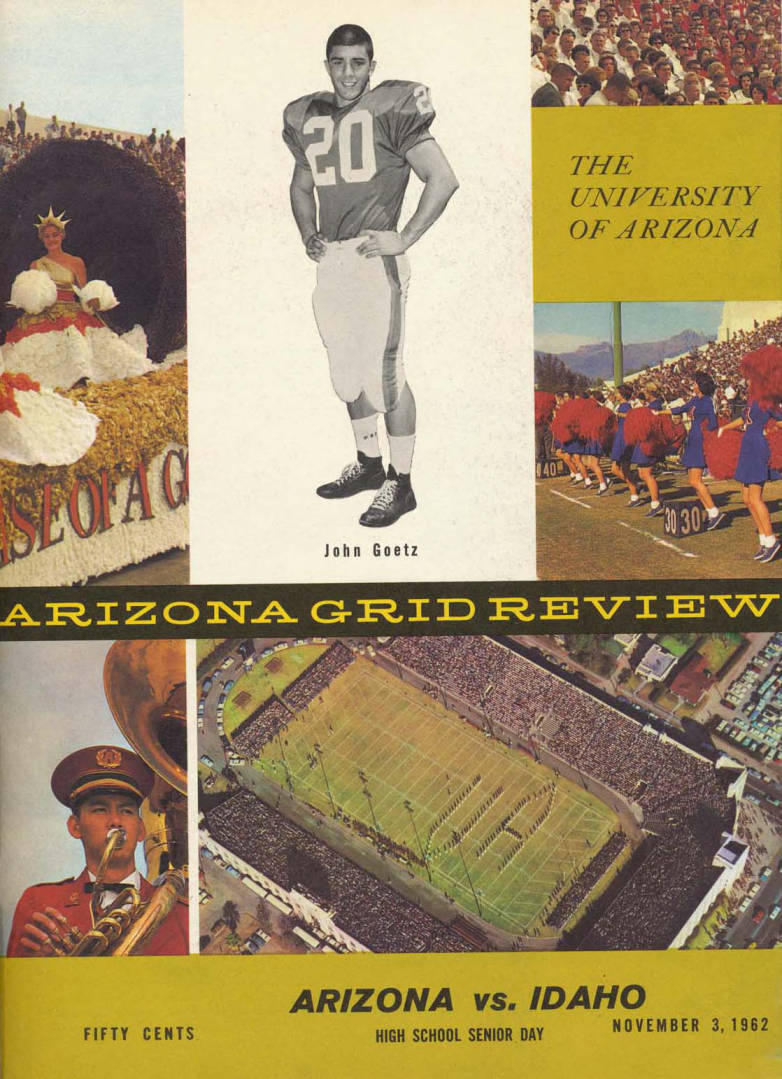 item thumbnail for Football Program: Idaho vs University of Arizona, 11/03/1962, Arizona Stadium, Tucson (Arizona)