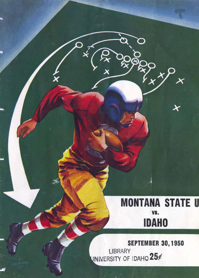 item thumbnail for Football Program: Idaho vs Montana State University, 09/30/1950, Neale Stadium, Moscow (Idaho)