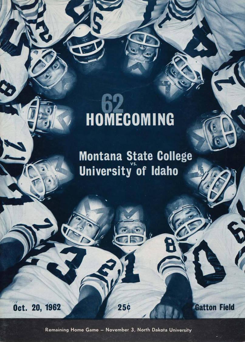 item thumbnail for Football Program: Idaho vs Montana State University, 10/20/1962, Gatton Field, Bozeman (Montana)