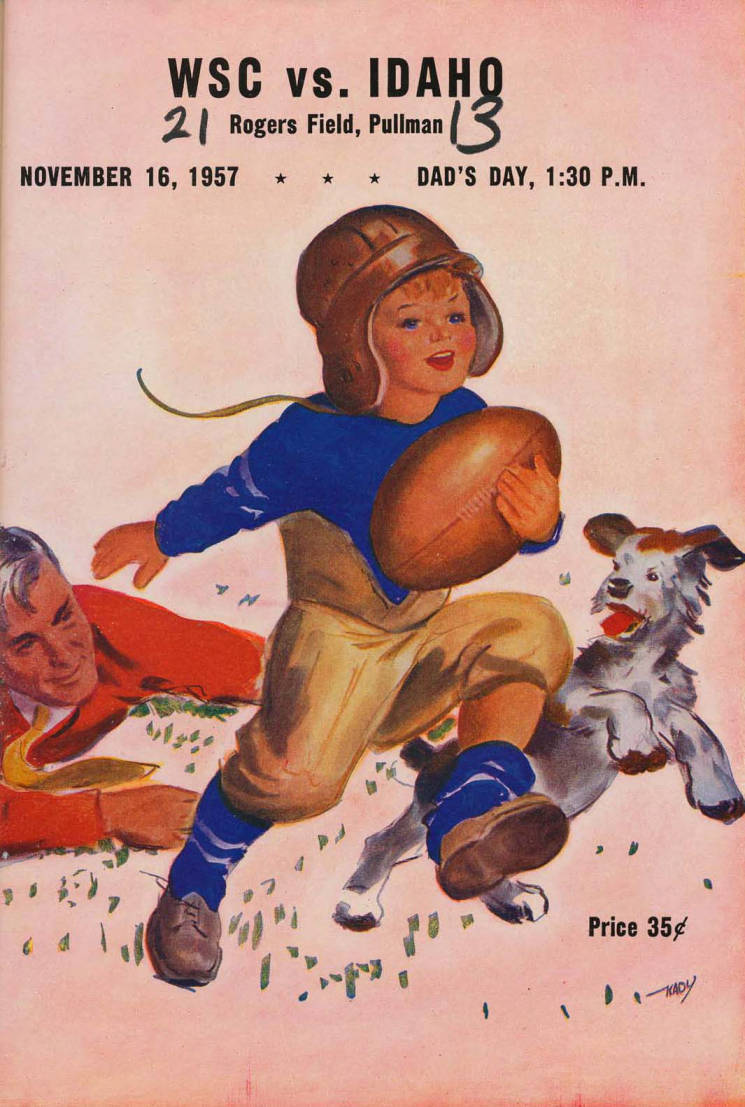 item thumbnail for Football Program: Idaho vs Washington State University, 11/16/1957, Rodgers Field, Pullman (Washington)