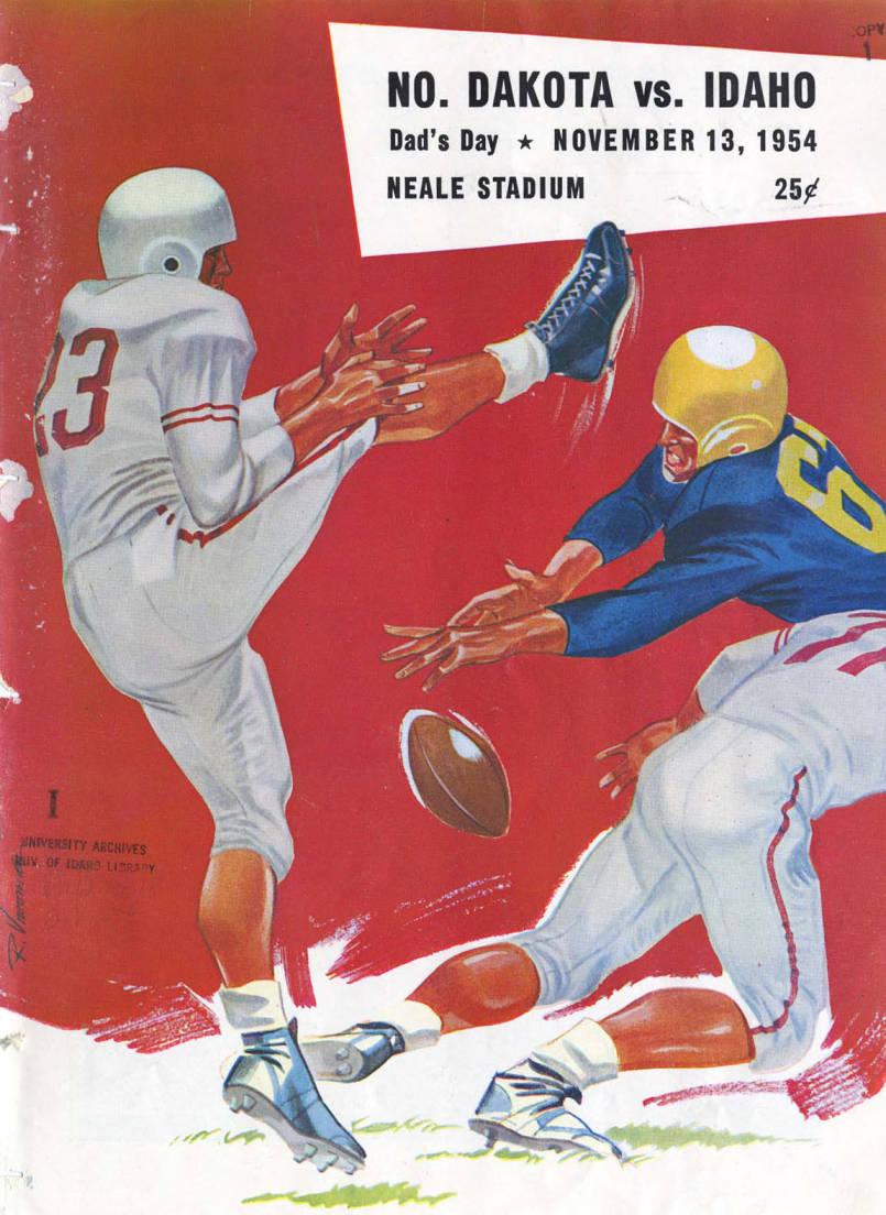 item thumbnail for Football Program: Idaho vs North Dakota Agricultural College, 11/13/1954, Neale Stadium, Moscow (Idaho)