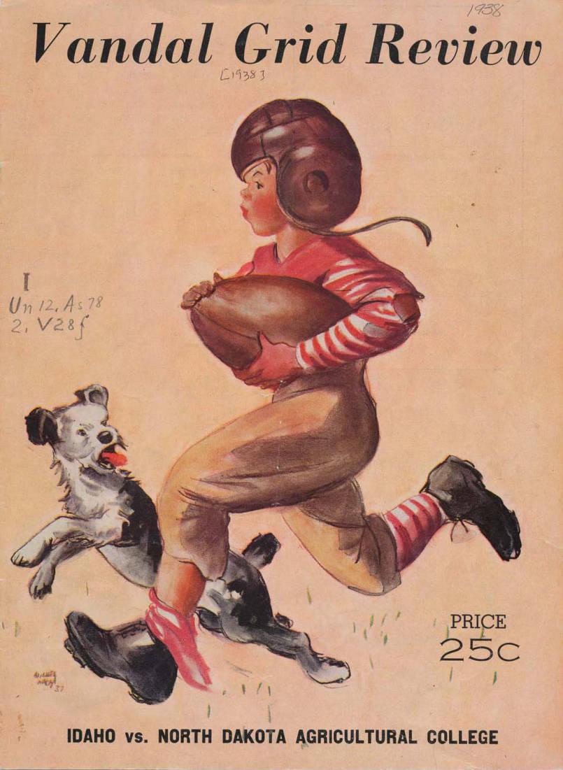 item thumbnail for Football Program: Idaho vs North Dakota State College, 10/08/1938, Neale Stadium, Moscow (Idaho)