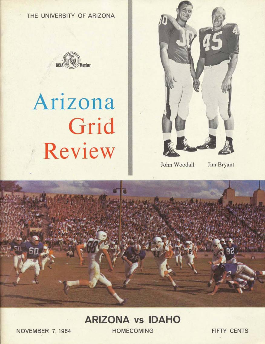 item thumbnail for Football Program: Idaho vs University of Arizona, 11/07/1964, Arizona Stadium, Tucson (Arizona)