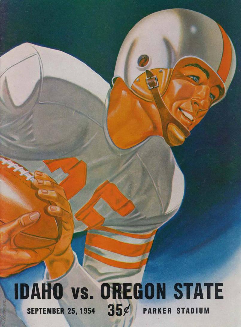 item thumbnail for Football Program: Idaho vs Oregon State, 09/25/1954, Parker Stadium, Corvallis (Oregon)
