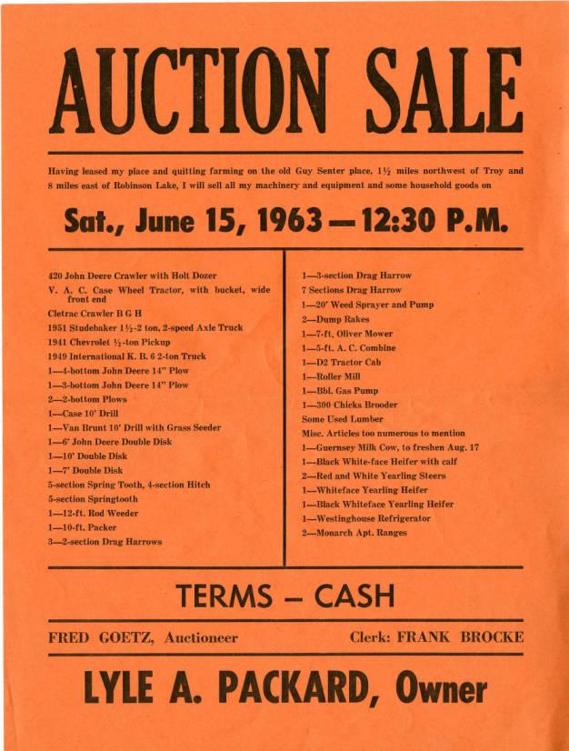 Image of Auction Sale orange flyer