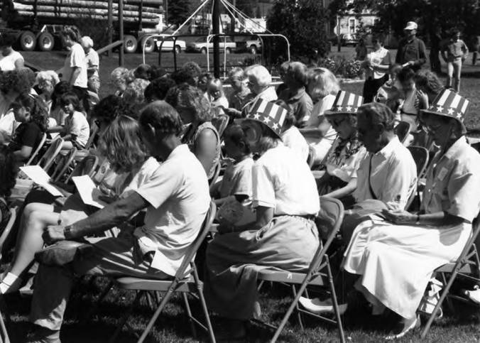 Bovill Audience on Statehood Day
