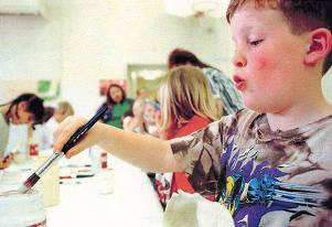 item thumbnail for Children Painting During Kidstown