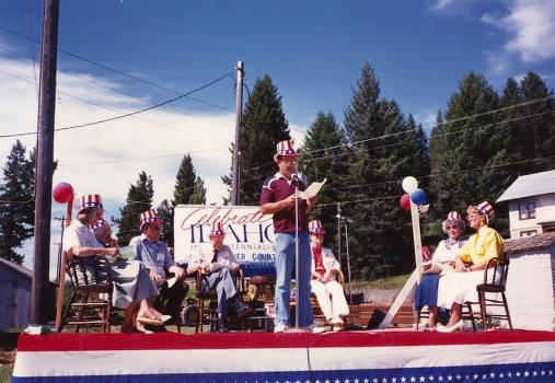 item thumbnail for Gary Eggers Speaking during Statehood Day