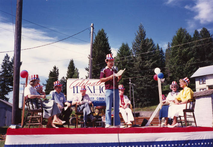 Gary Eggers Speaking during Statehood Day