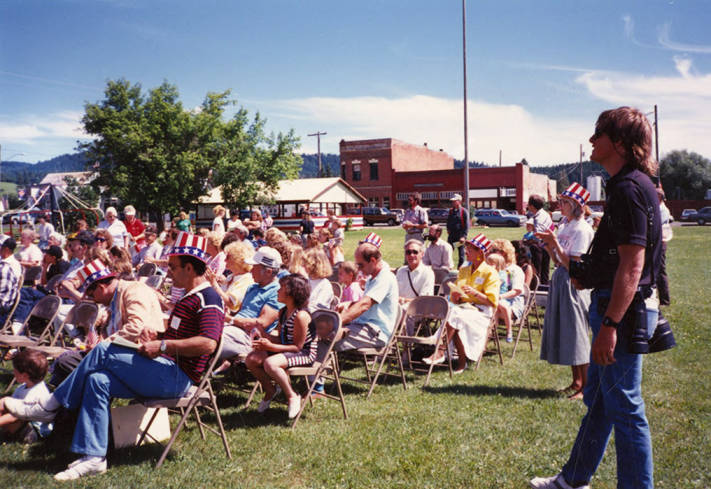 Seated Crowd at Bovill's Statehood Day
