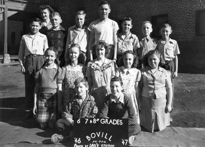 item thumbnail for 1946 Class of Bovill 6th, 7th, and 8th Grade Students