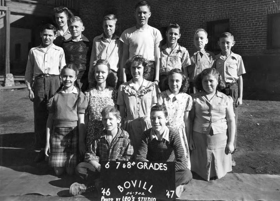 1946 Class of Bovill 6th, 7th, and 8th Grade Students
