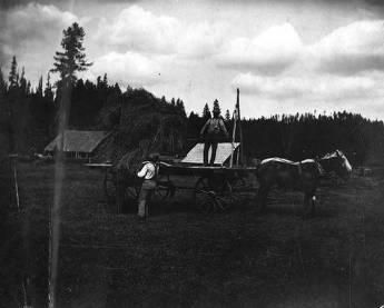 item thumbnail for Men Move Hay at the Bovill Ranch
