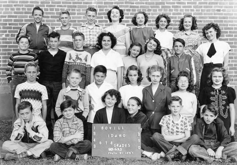 1949 Class of Bovill 6th, 7th, and 8th Grade Students