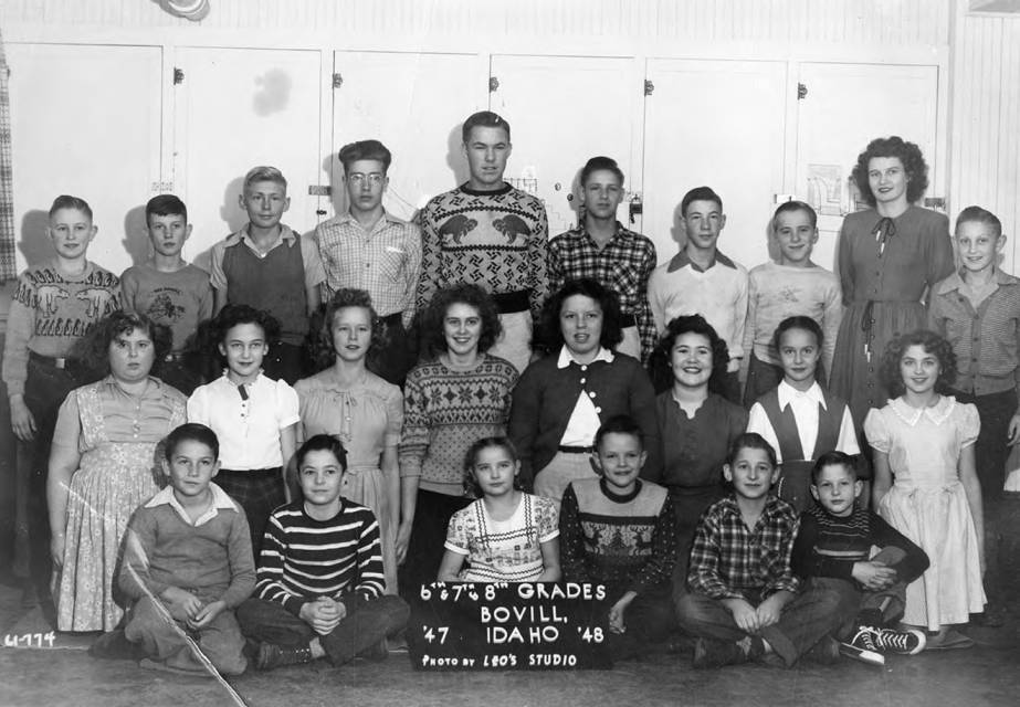 1947 Class of Bovill 6th, 7th, and 8th Grade Students