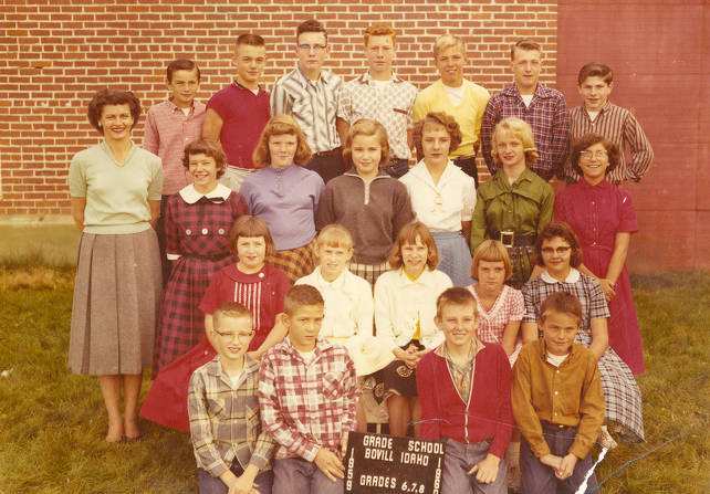item thumbnail for 1959 Class of Bovill 6th, 7th, and 8th Grade Students