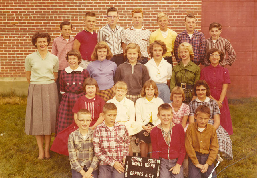 1959 Class of Bovill 6th, 7th, and 8th Grade Students