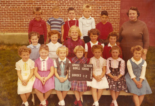 item thumbnail for 1959 Class of Bovill 1st and 2nd Grade Students
