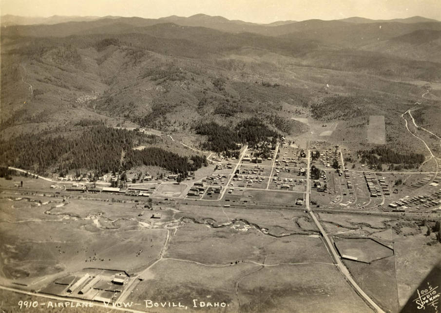Aerial view of Bovill. [01]