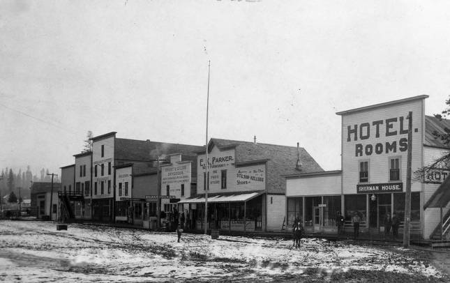 item thumbnail for Snow on Bovill's Main Street