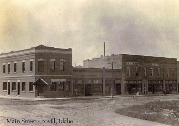 Stores Line Bovill's Main Street