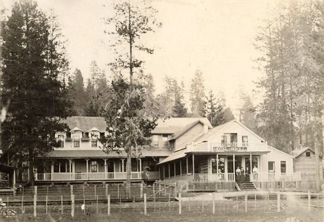 Women on the Porch of the Bovill Hotel