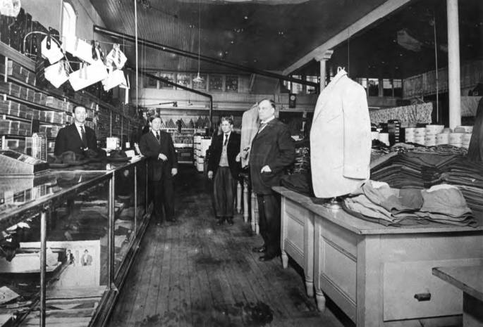 item thumbnail for Davids' mens' department about 1905 at the southeast corner of Third and Main streets