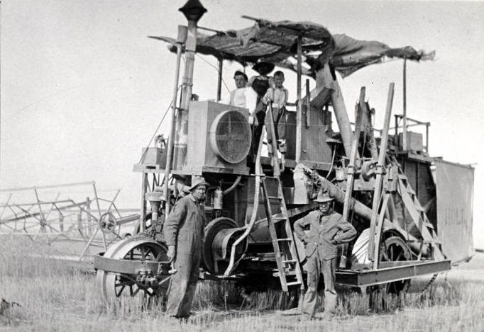 item thumbnail for Holt self-propelled combine