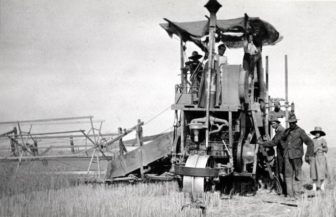 item thumbnail for Holt self-propelled combine, owned by McKown [01]