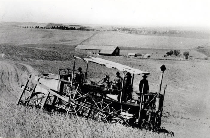 item thumbnail for Holt self-propelled combine, owned by McKown [02]