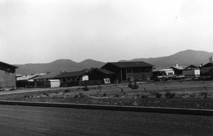 item thumbnail for Looking northeast at Moscow Mountain from F Street and Eisenhower Street in July 1980