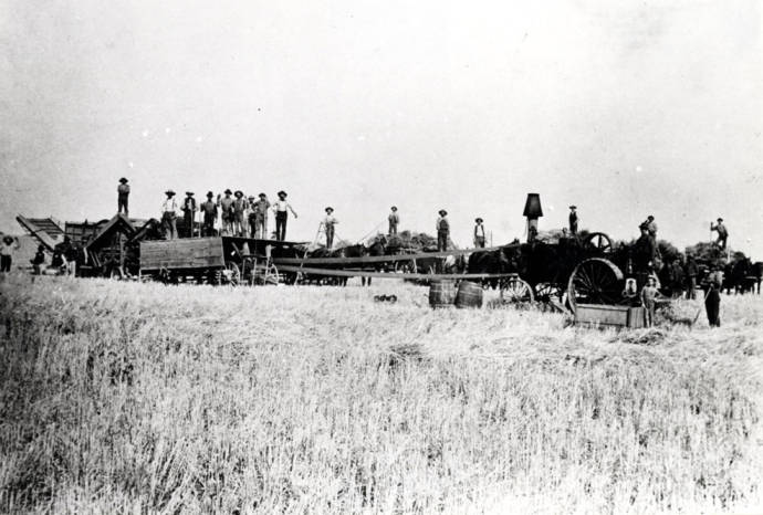 item thumbnail for Stationary threshing outfit near Fallon Station