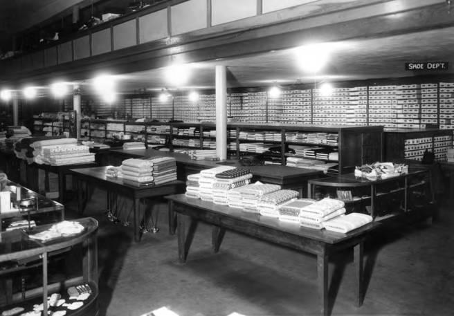 item thumbnail for Davids' shoe department in 1940