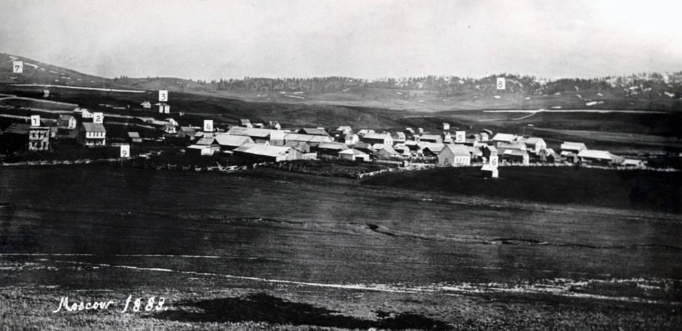 item thumbnail for Moscow, Idaho Territory circa 1883 [04]