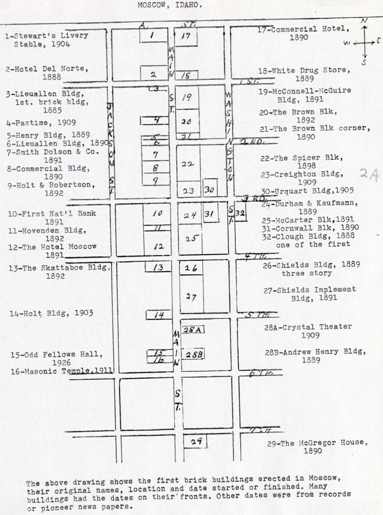 item thumbnail for Map of first brick buildings in Moscow
