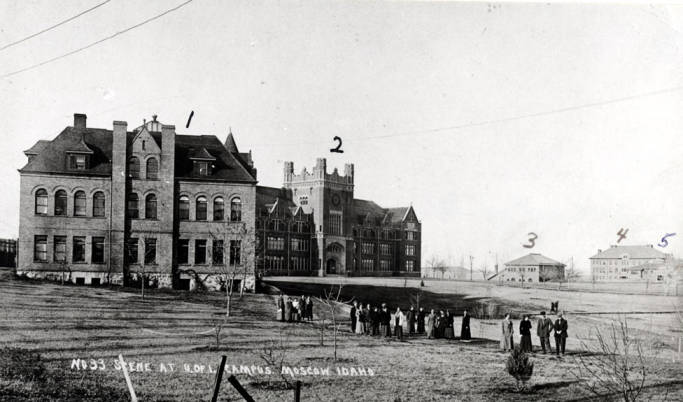 item thumbnail for University of Idaho campus in 1912